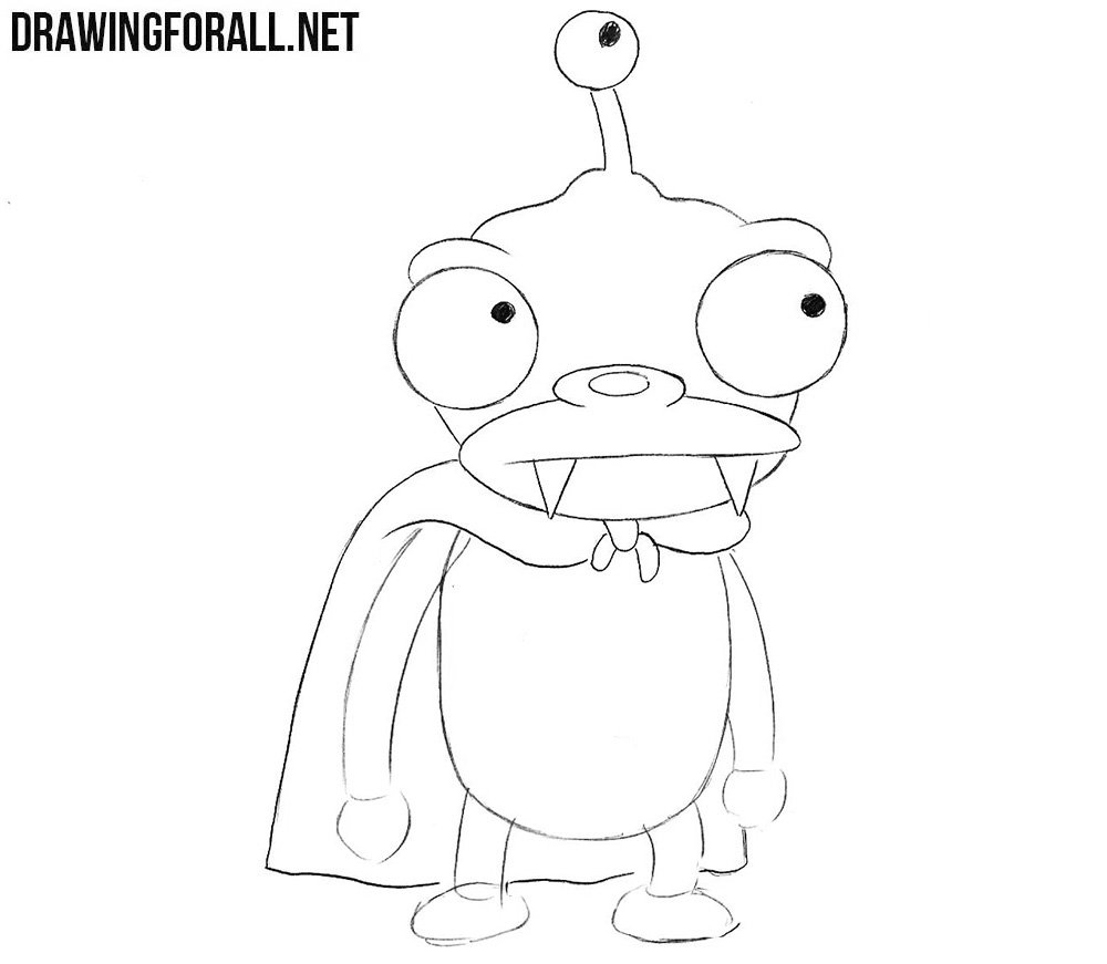 How to draw characters from futurama