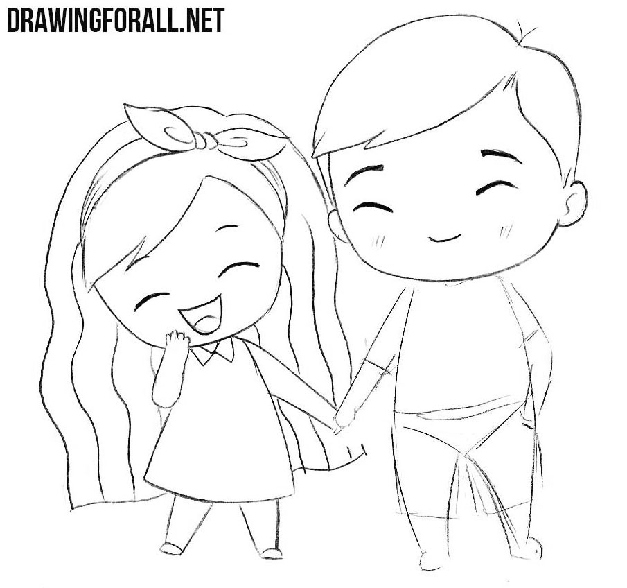 How to draw chibi love