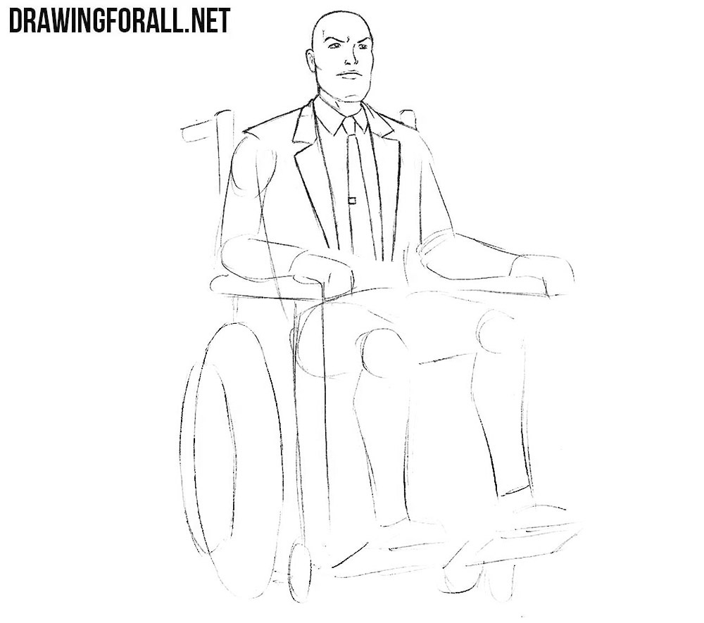 How to draw professor x from comics