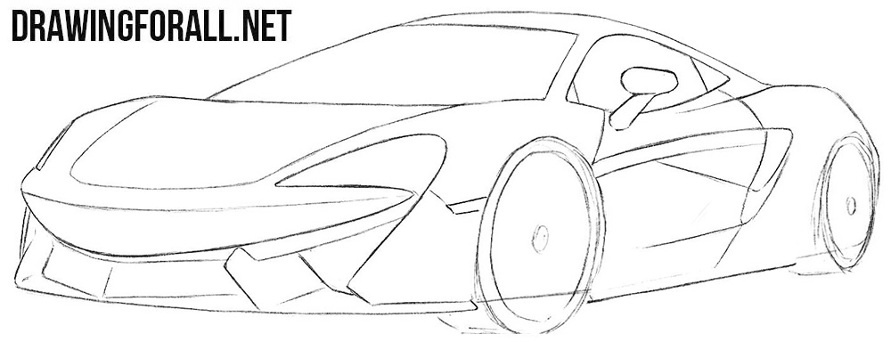 How to sketch a McLaren 570s