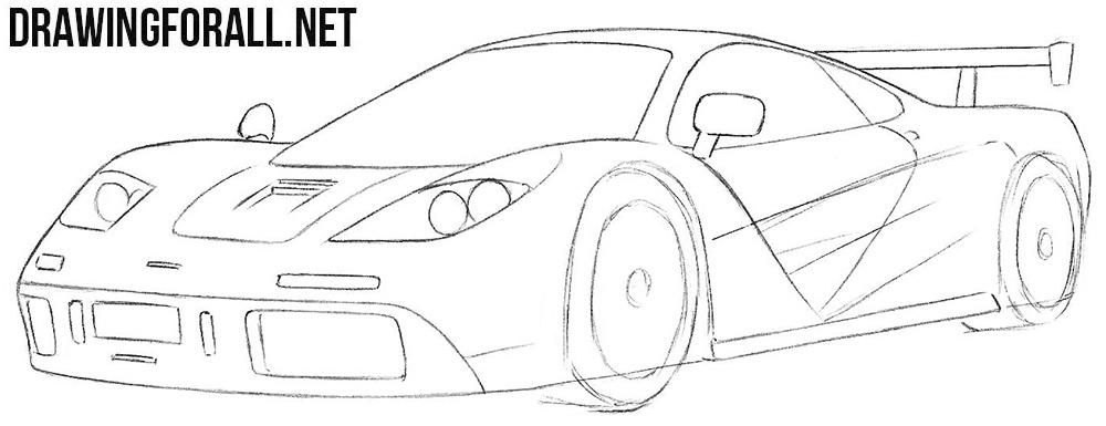 How to sketch a McLaren f1