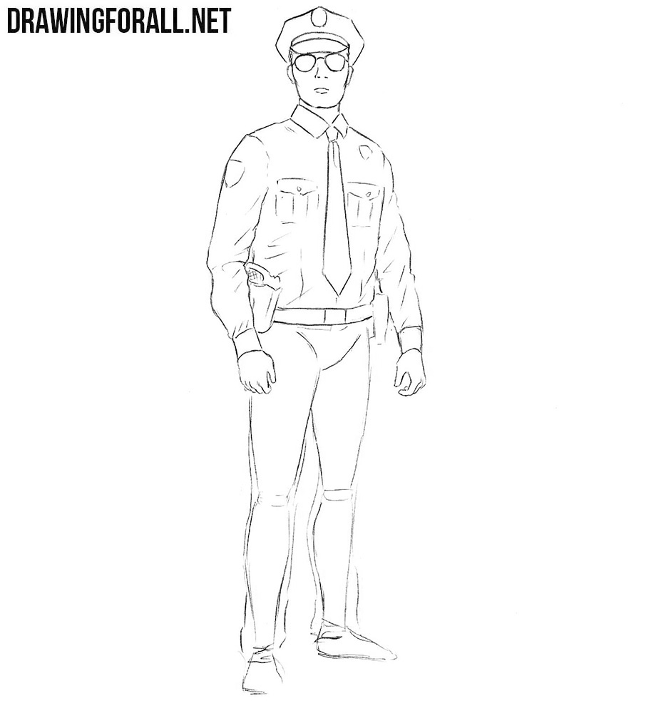 How to sketch a policeman
