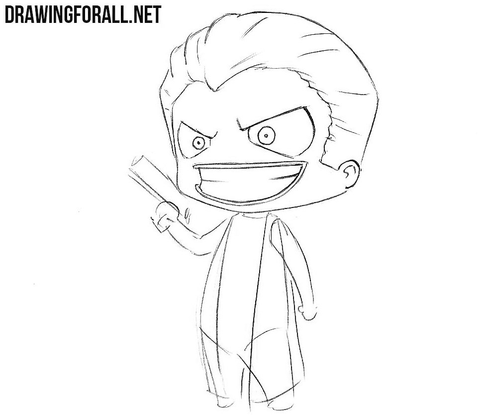 How to sketch chibi Joker