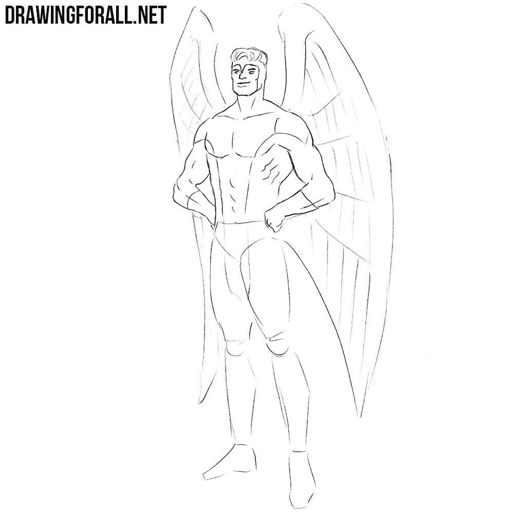 How todraw Angel Marvel comics