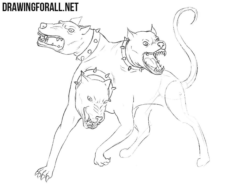Learn how to draw Cerberus