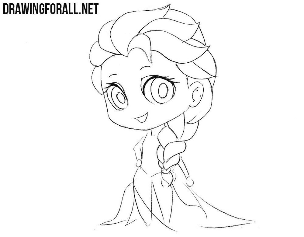 Learn how to draw Chibi Elsa