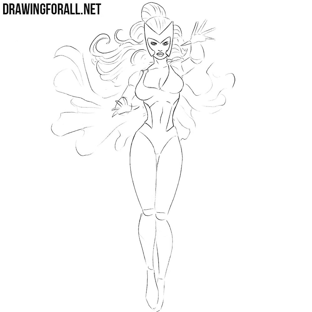 Learn how to draw Polaris from marvel comics