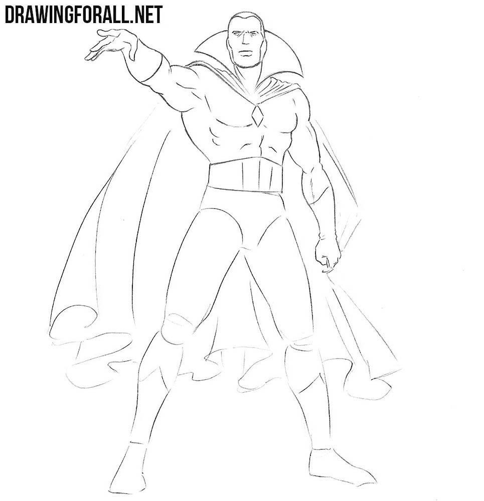 Learn how to draw Vision step by step