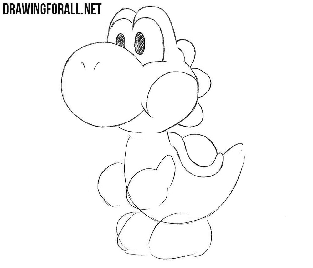Learn how to draw Yoshi