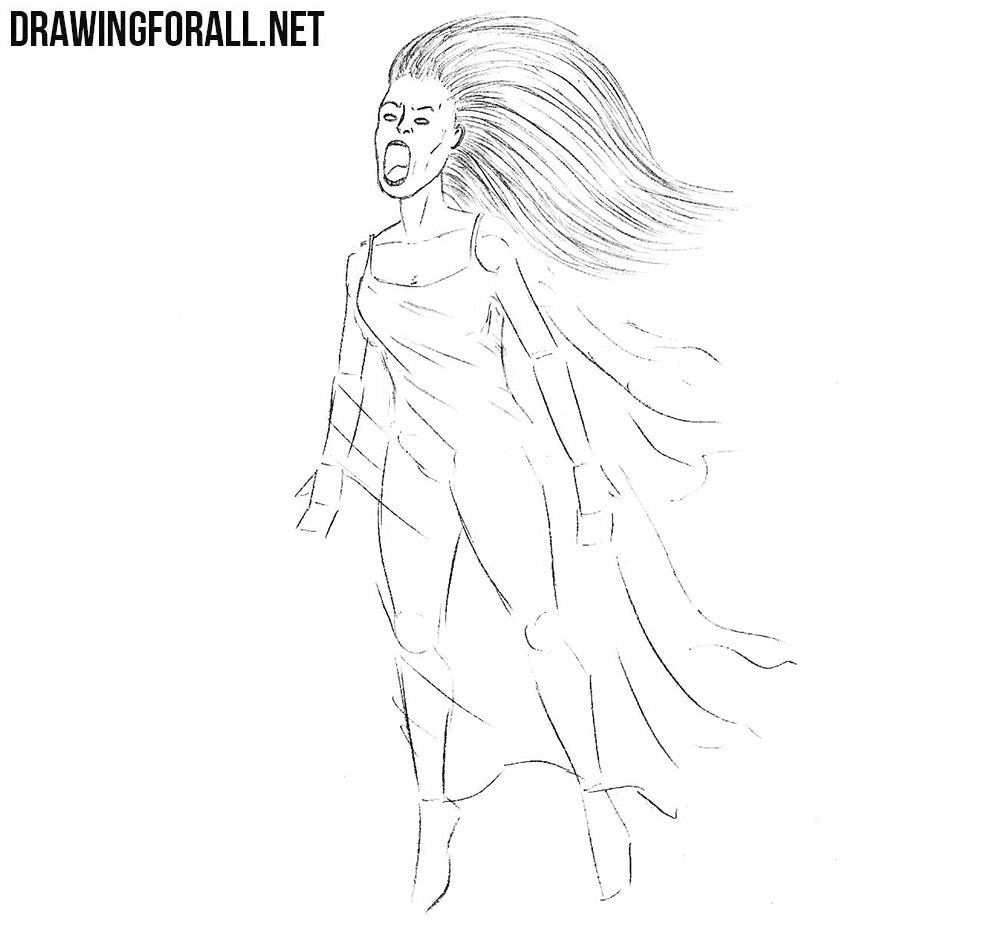 Learn how to draw a Banshee step by step