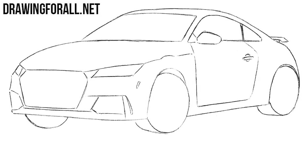 Learn to Draw a Sports Car Step by Step