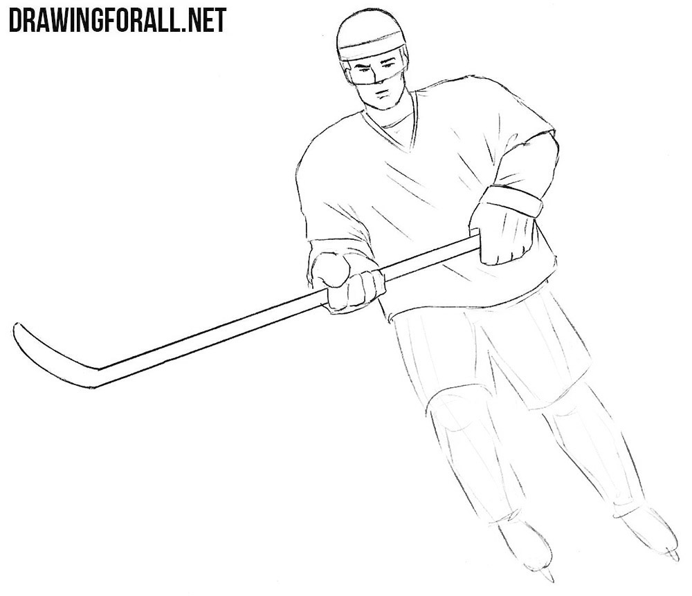 Learn to draw a hockey player