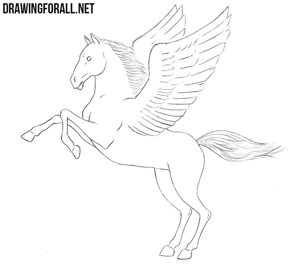 Pegasus drawing tutorial