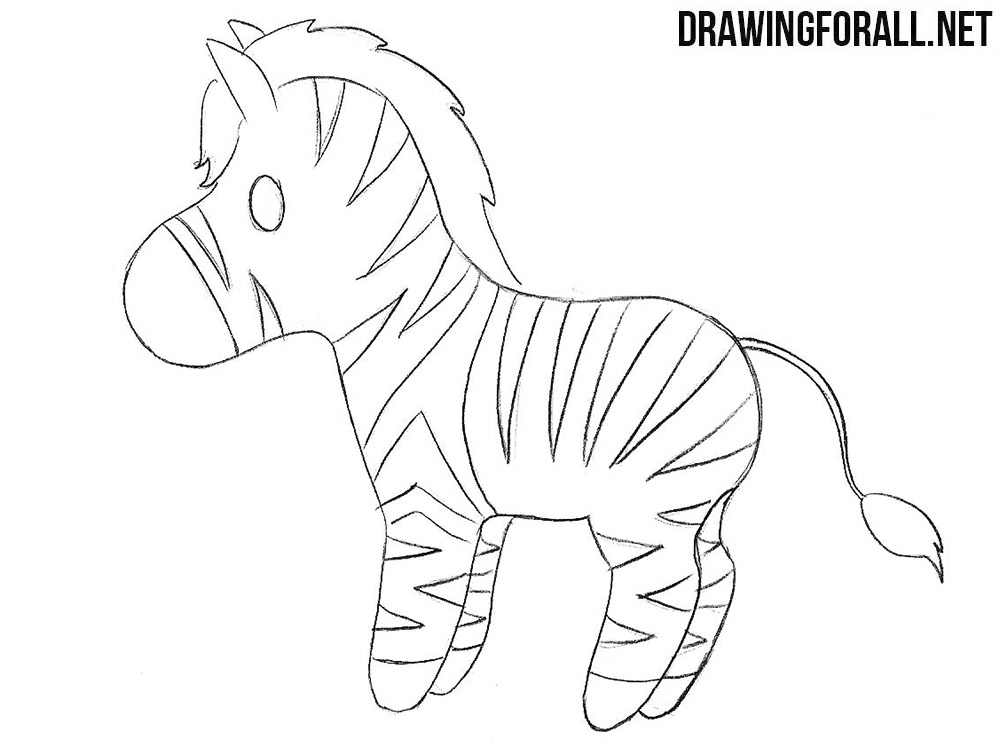 chibi zebra drawing
