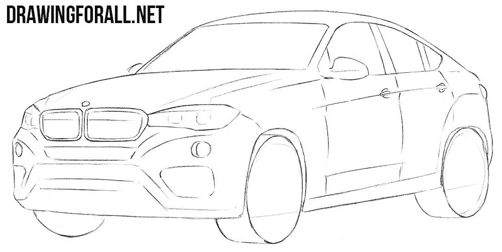 BMW X6 drawing tutorial