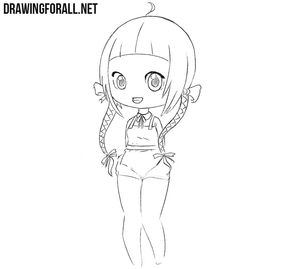 Beautiful Chibi Girl drawing tutorial