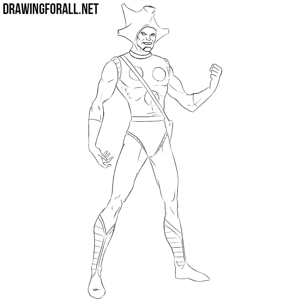 Changeling from Marvel drawing tutorial
