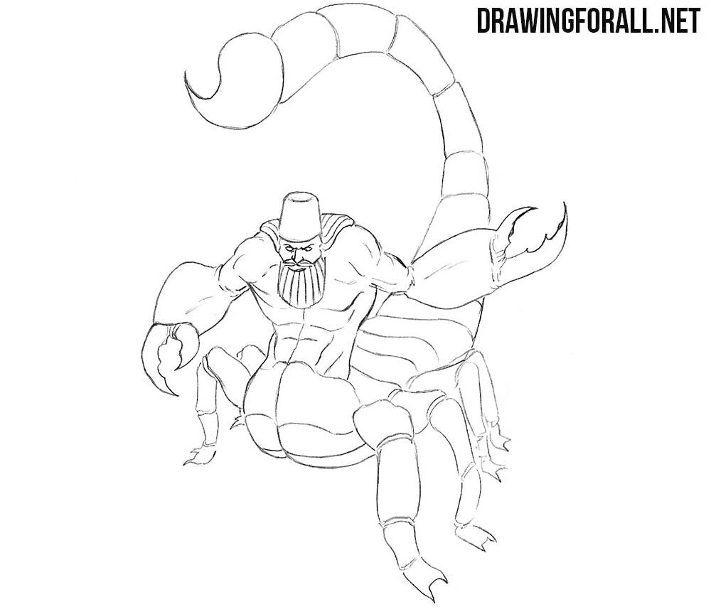 How to draw Aqrabuamelu