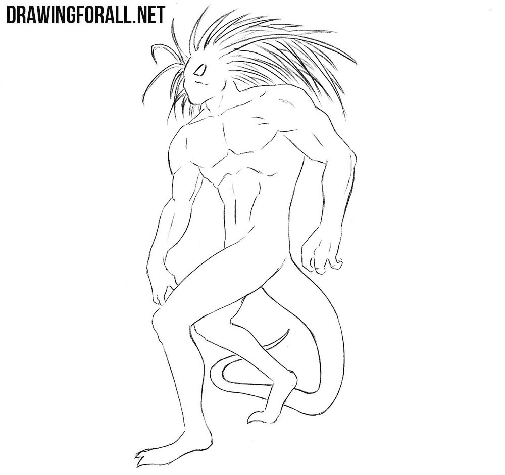 How to draw Blackheart from Marvel