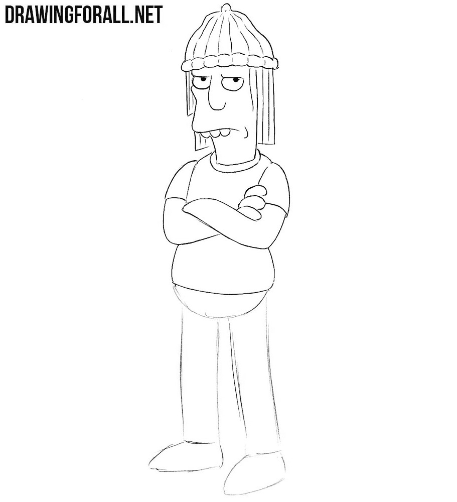 How to draw Jimbo Jones from the simpsons