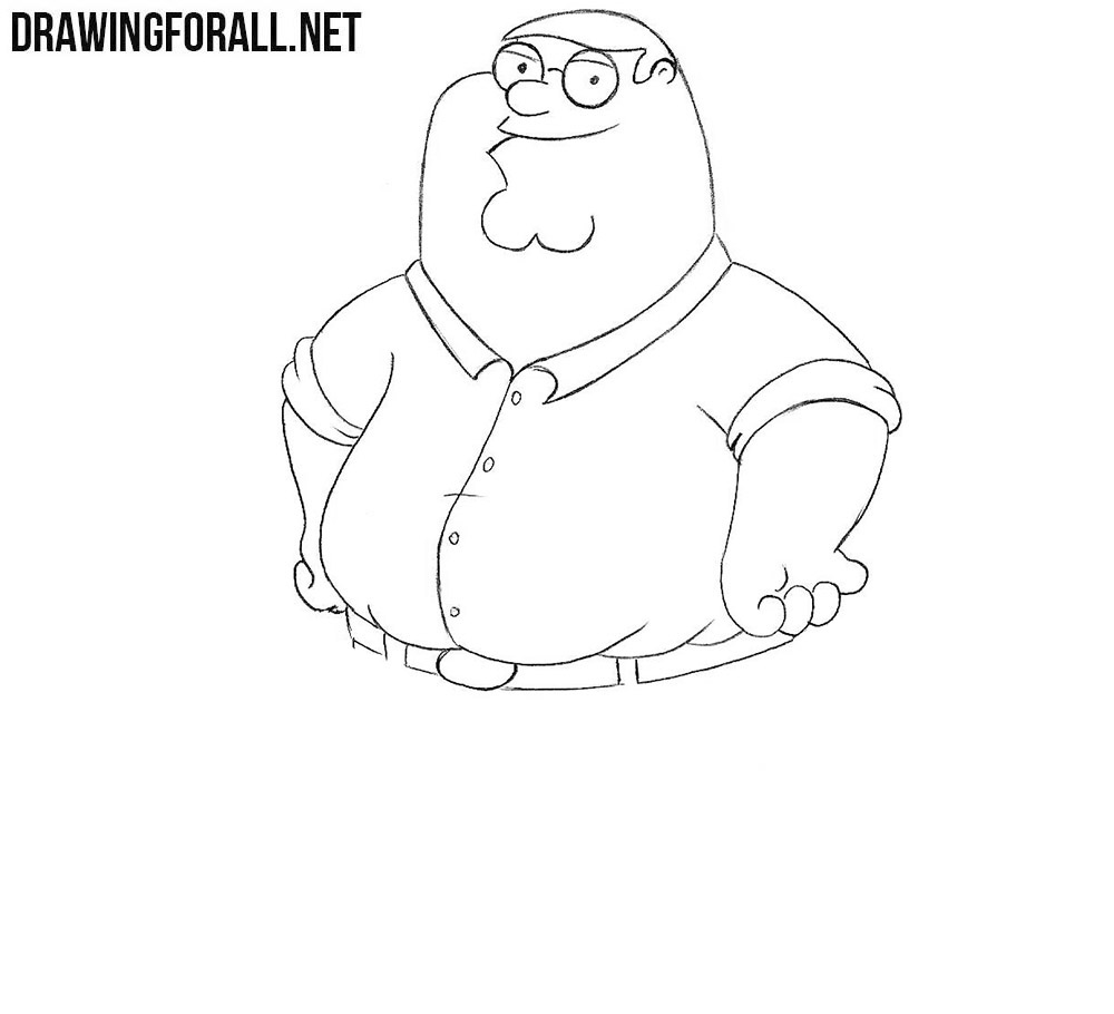 How to draw Peter Griffin step by step