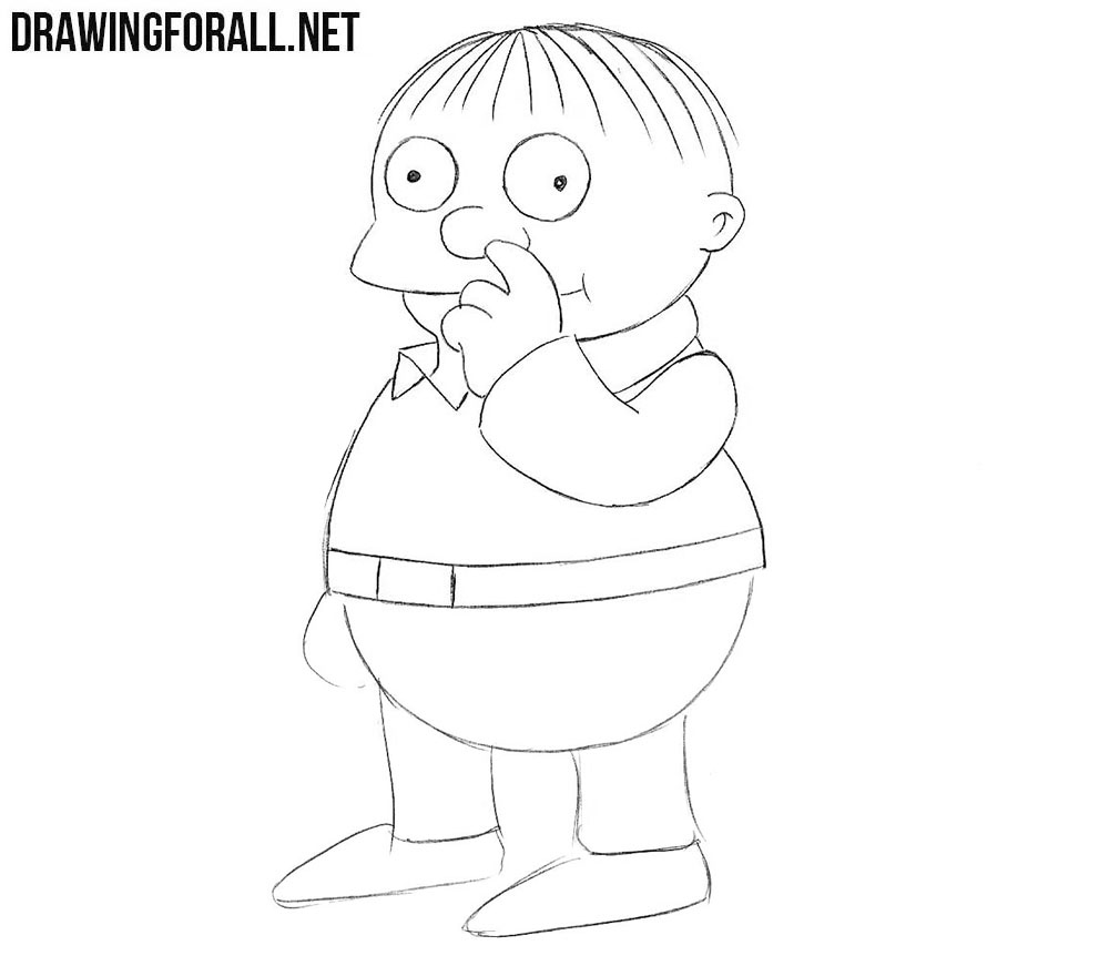 How to draw Ralph Wiggum from the Simpsons