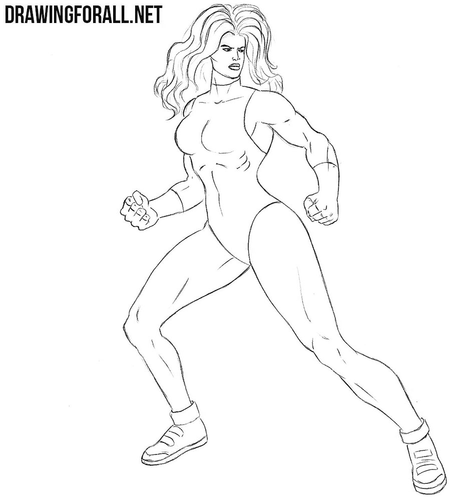 How to draw She-Hulk from marvel