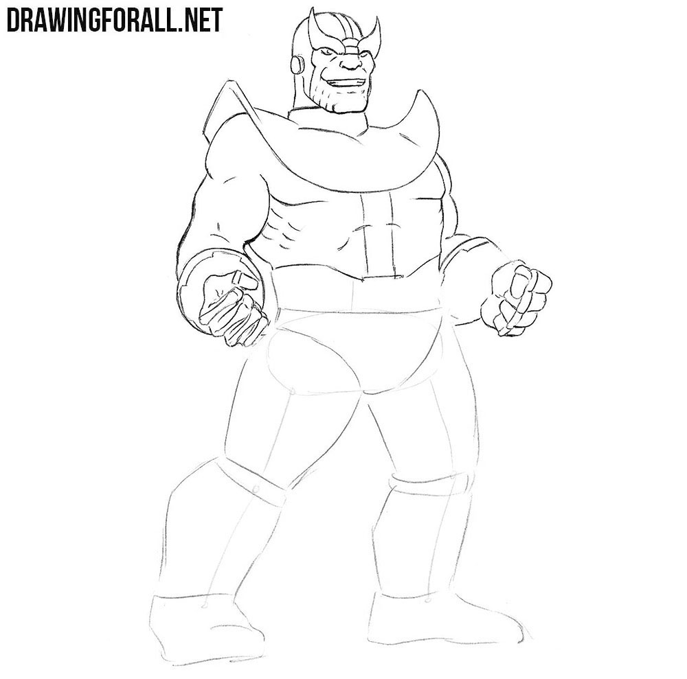 How to draw Thanos from the avengers