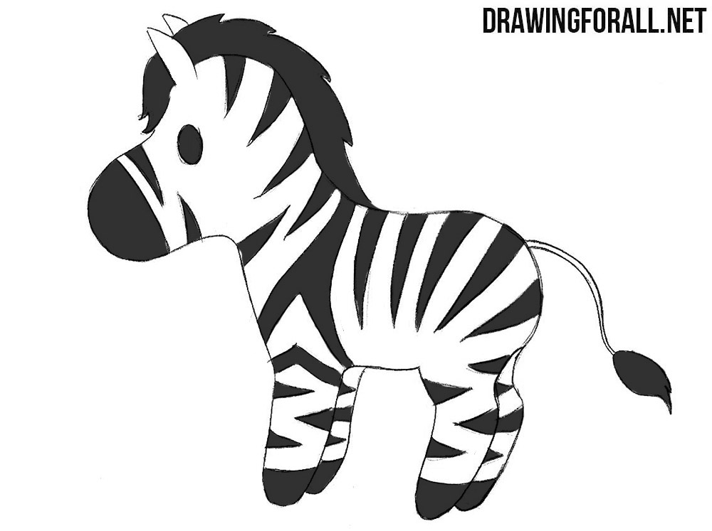 How to Draw a Chibi Zebra | Drawingforall.net