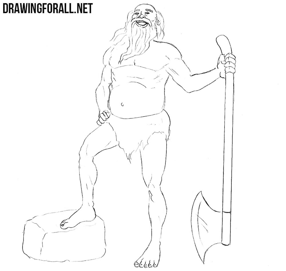 How to draw a leshy step by step