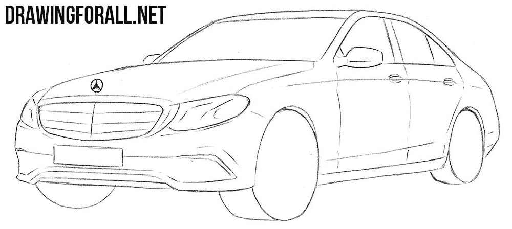 How to draw a realistic mercedes
