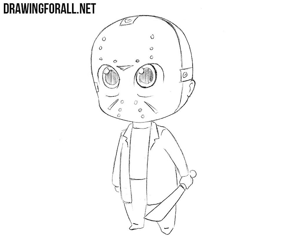 How to draw chibi Jason Voorhees