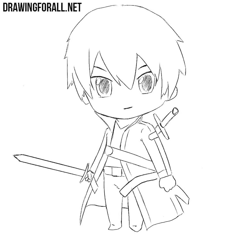 How to draw chibi Kirito