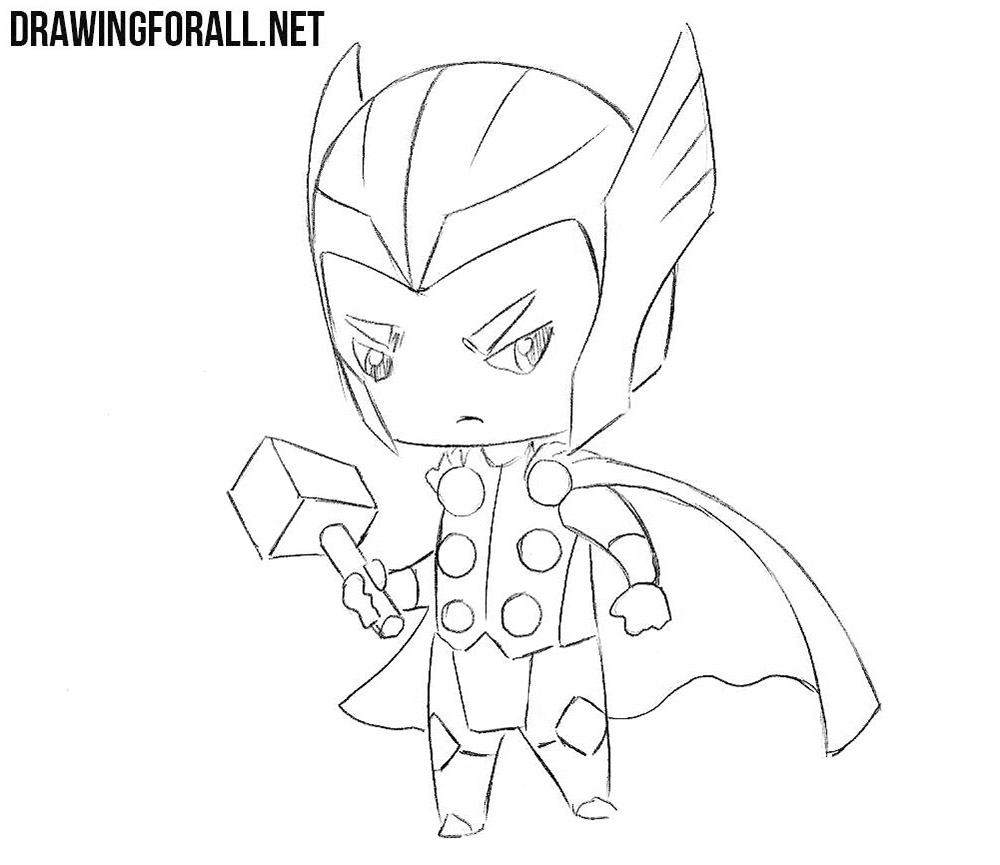 How to draw chibi Thor