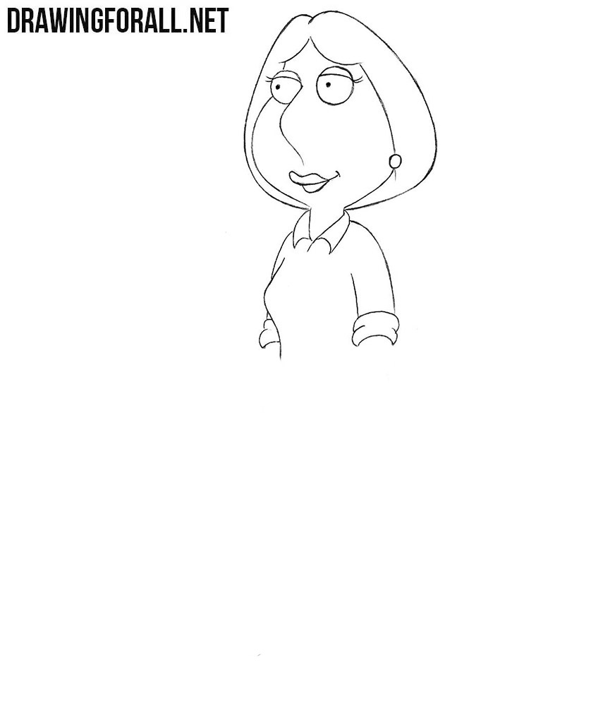 How to sketch Lois Griffin