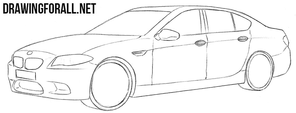 How to sketch a BMW M5