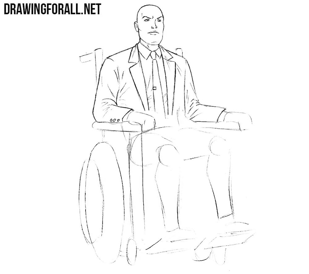 How to sketch professor xavier