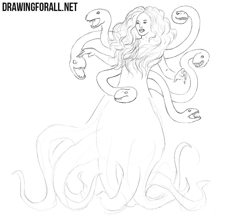 Learn how to draw Scylla step by step