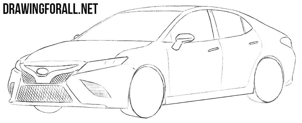 Learn how to draw a Toyota