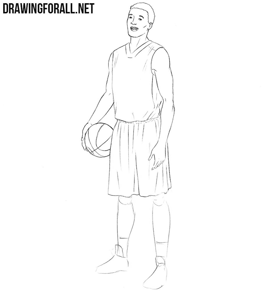 Learn to draw a basketball player