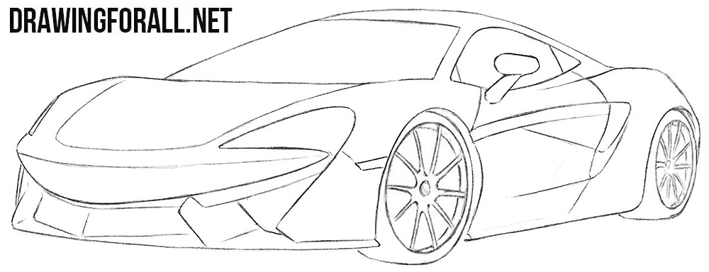 McLaren 570s drawing tutorial