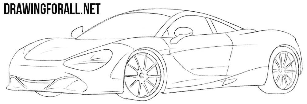 McLaren 720s drawing tutorial
