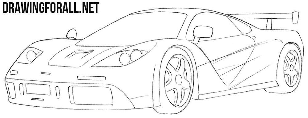 McLaren f1 drawing tutorial