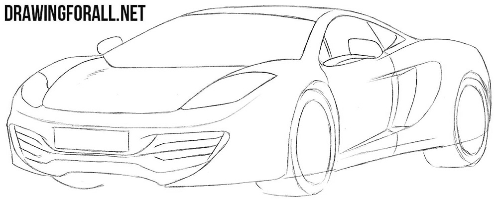How To Draw A Mclaren Mp4 12c Drawingforall Net