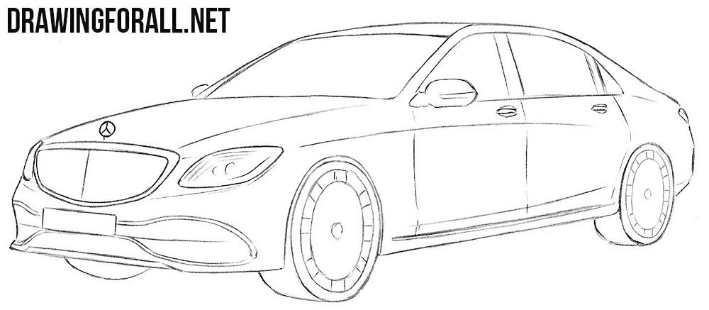 Mercedes-Maybach drawing tutorial