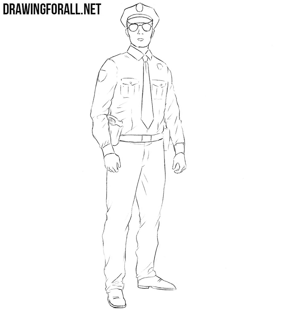 Policeman drawing