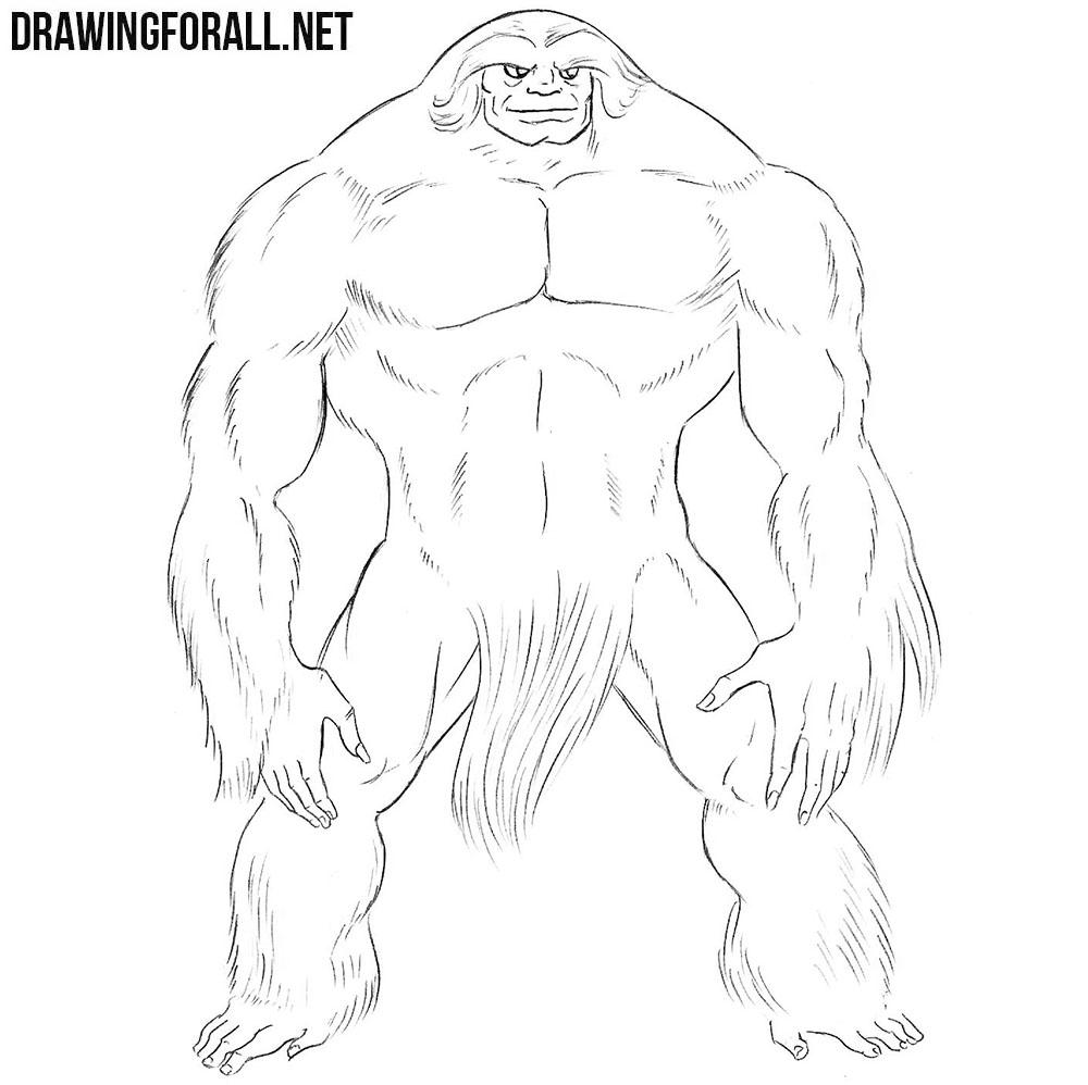 Sasquatch drawing tutorial