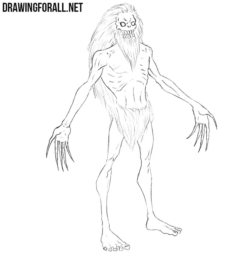 Wendigo drawing tutorial