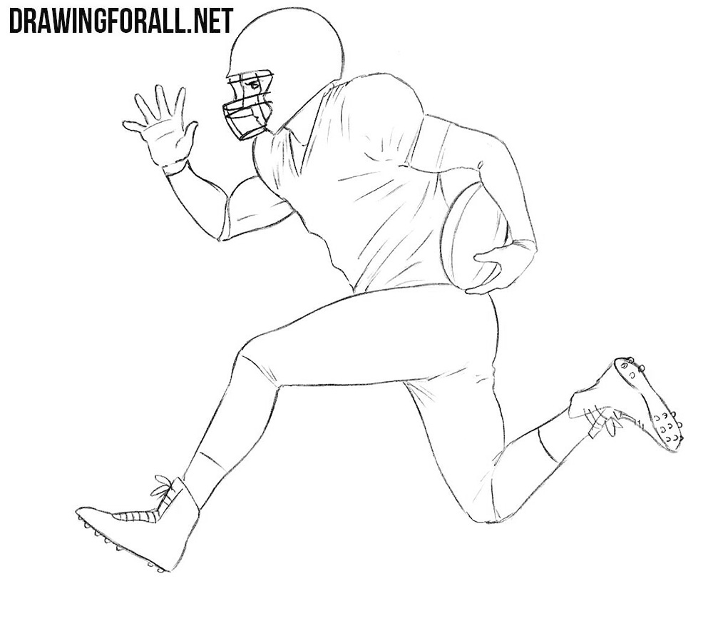American football player drawing tutorial