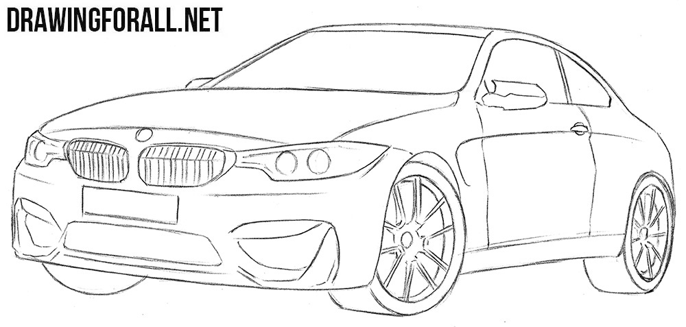 BMW M4 drawing tutorial